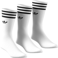 ADIDAS Socken Solid Crew 3er Pack white/black