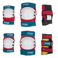 TSG Kids Skate Protektor Set red-white-blue