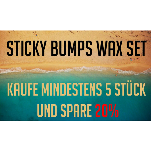 STICKY BUMPS Surf Wax Paket x5