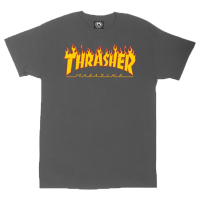 THRASHER T-Shirt Flame charcoal gray