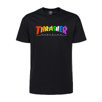 THRASHER T-Shirt Rainbow Mag black