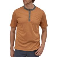 PATAGONIA  Bike T-Shirt Cap Cool Trail Bike Henley wood...