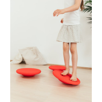 STAPELSTEIN Balance Board Basic 3er Set red