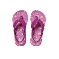REEF Kids Flip Flop Little Ahi purple rainbow