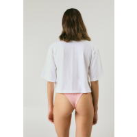 PUKAS Women Top Trim on Fire Cropped white
